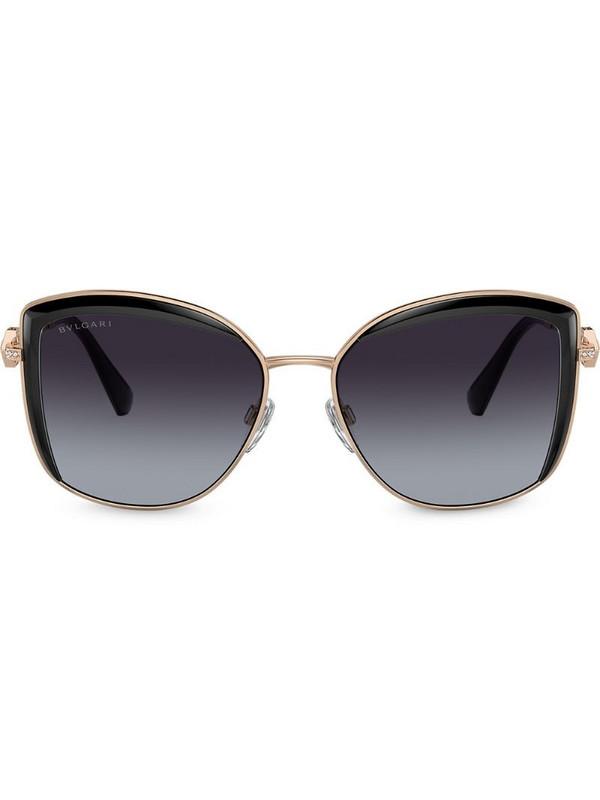 Bvlgari oversized sunglasses in gold
