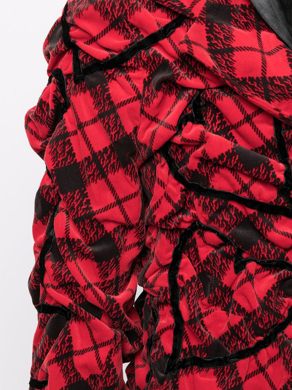 Comme Des Garçons Pre-Owned ruched heart motif jacket in red
