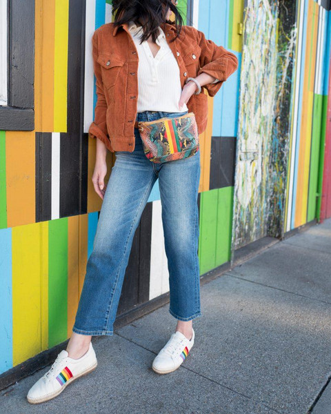 the fancy pants report blogger jacket shirt jeans shoes belted bag sneakers spring outfits