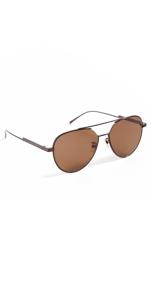 Bottega Veneta Classic Aviator Sunglasses in brown