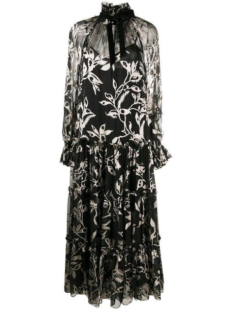 Zimmermann long-sleeve flare dress in black