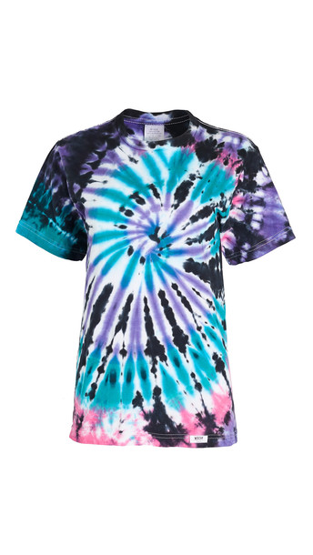 Worthy Threads Space Dye Tee in black / teal / pink / purple