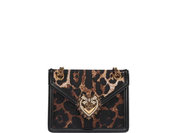 Dolce & Gabbana Jacquard Leo Medium Devotion Bag