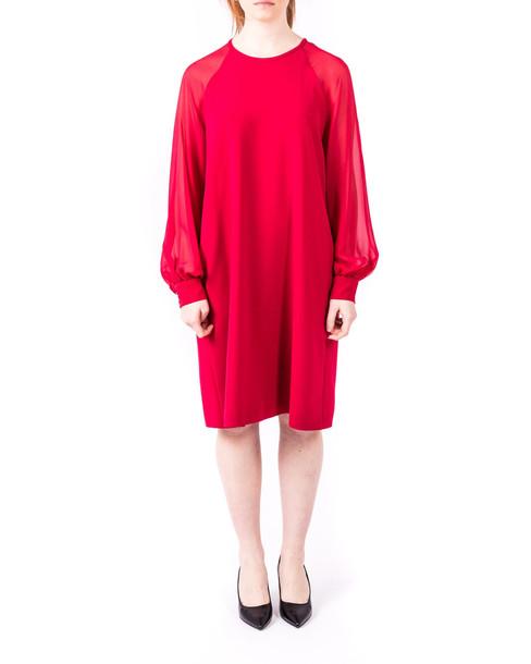 Max Mara Studio Max Mara Studio Slogan Dress in red