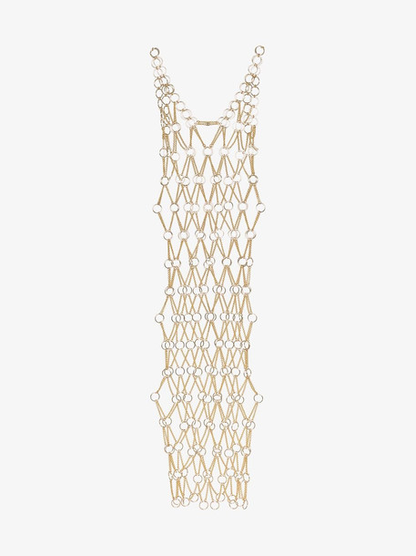 Paco Rabanne sleeveless chain-metal dress in metallic