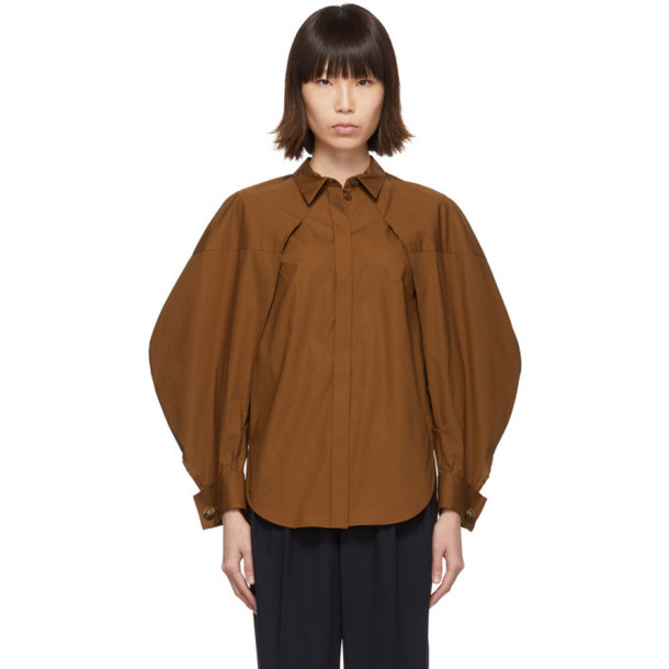 Enfold Brown Two-Way Shirt