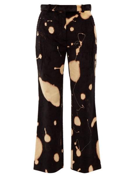 Hillier Bartley - Bleach Splatter Corduroy Trousers - Womens - Black Multi