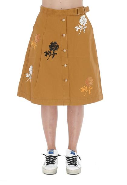 Tory Burch Midi Denim Skirt