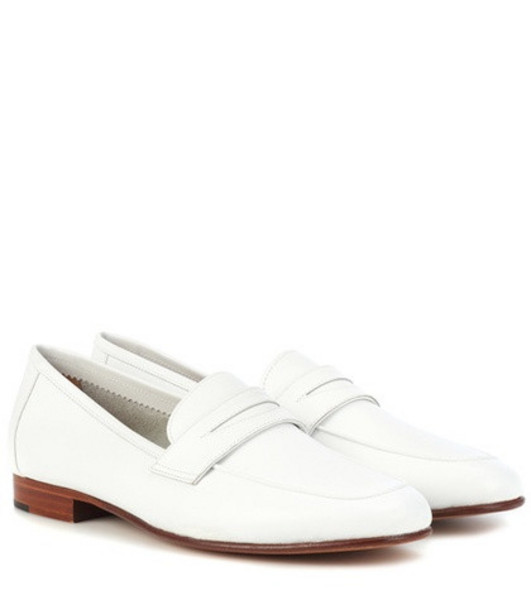 Mansur Gavriel Classic leather loafers in white