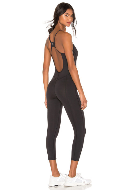 Free People Movement Side To Side Performance Jumpsuit in black