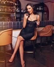dress,black dress,valentines day