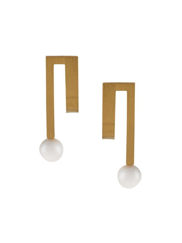 Hsu Jewellery Unfinishing Line earrings in gold