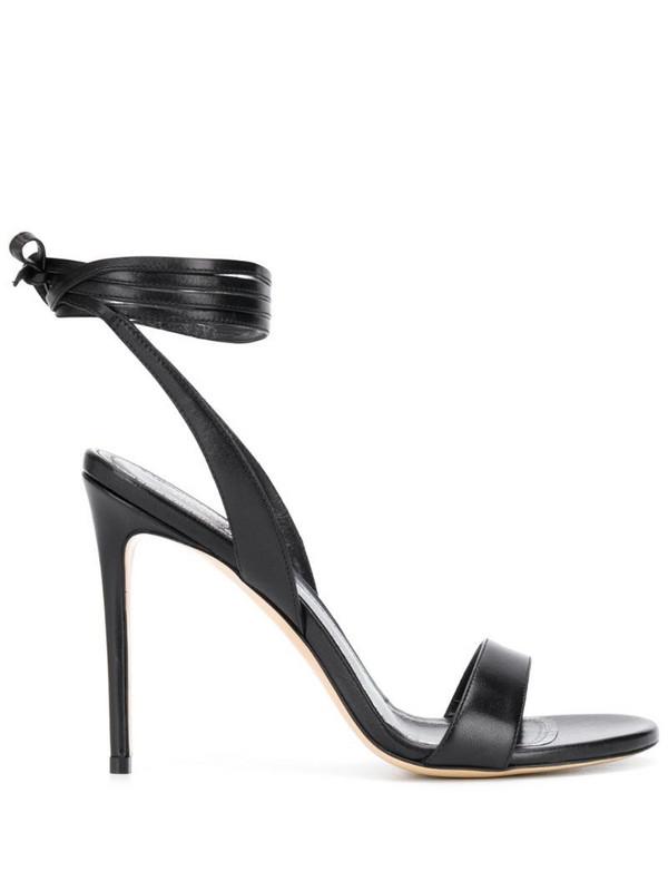 Giuliano Galiano Sarah ankle-tie sandals in black