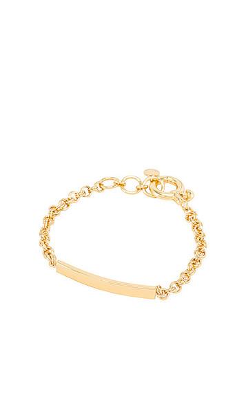 gorjana Lou Tag Bracelet in Metallic Gold