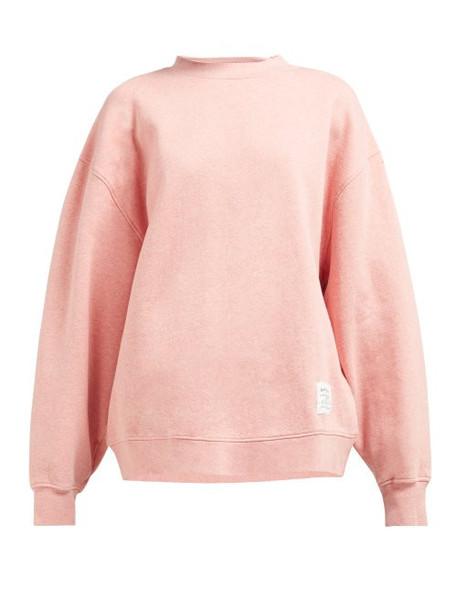 Acne Studios - Fyona Loose Fit Cotton Jersey Sweatshirt - Womens - Pink