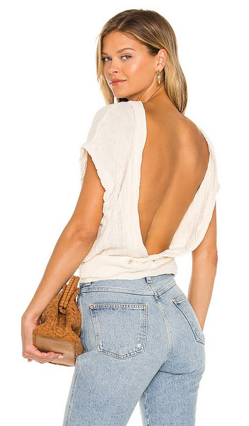 Jen's Pirate Booty Alsace Top in Cream in natural