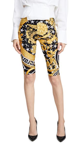 Versace Printed Bike Shorts in gold / multi