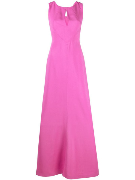 Alberta Ferretti sleeveless keyhole-neck maxi dress in pink