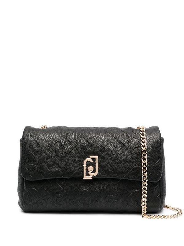 LIU JO monogram-logo chain-strap shoulder bag in black