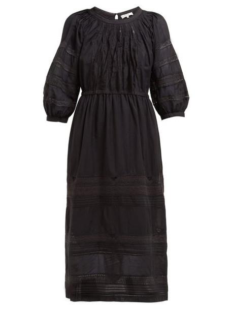 Sea - Aster Cotton Blend Midi Dress - Womens - Black
