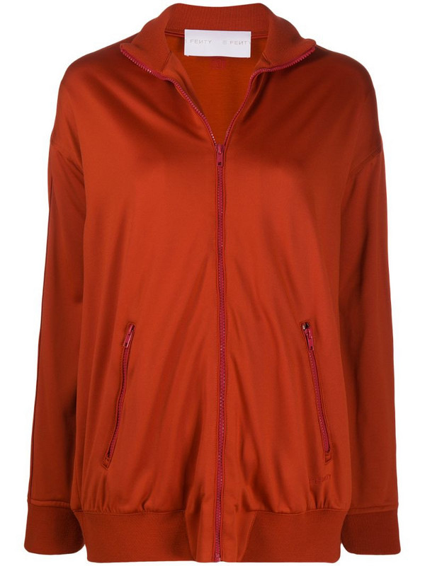 FENTY high neck sports jacket in red