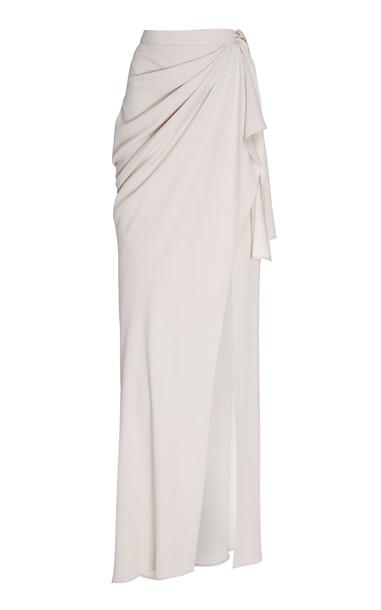 Burnett New York Stone Long Wrap Skirt in grey
