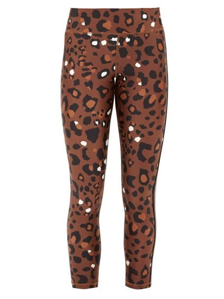 The Upside - Side-stripe Leopard-print Leggings - Womens - Leopard