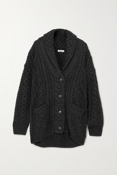Isabel Marant Étoile - Regan Cable-knit Wool Cardigan - Black