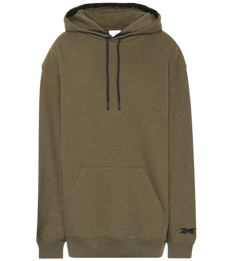 Reebok x Victoria Beckham Oversized cotton hoodie in green