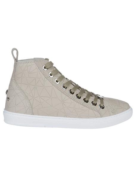 Jimmy Choo Colt Hi-top Sneakers in beige