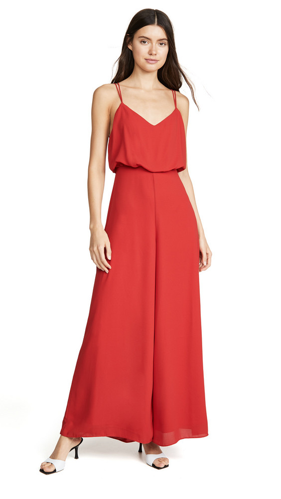 Fame and Partners The Catalina Jumpsuit in red