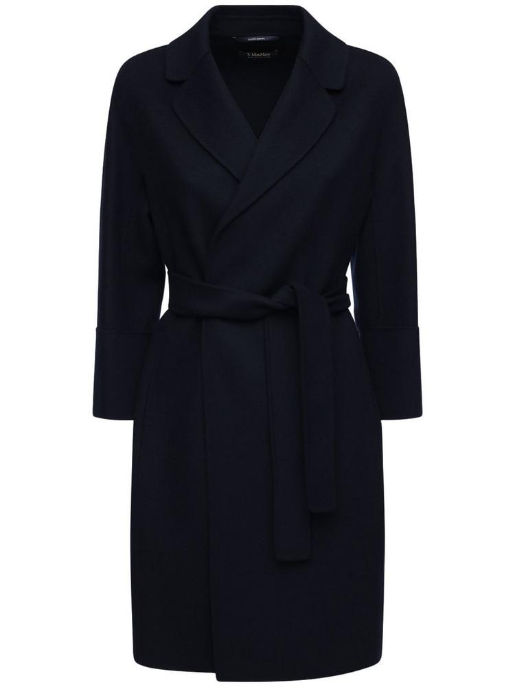 MAX MARA 'S Arona Belted Wool Coat in blue