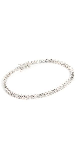 Luv Aj Ballier Silver Bezel Tennis Bracelet