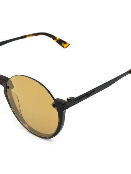 McQ Swallow tortoiseshell frame sunglasses in brown