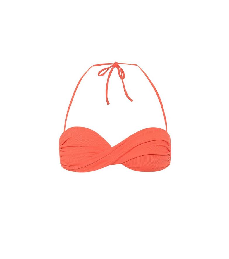 Melissa Odabash Thailand bandeau bikini top in orange