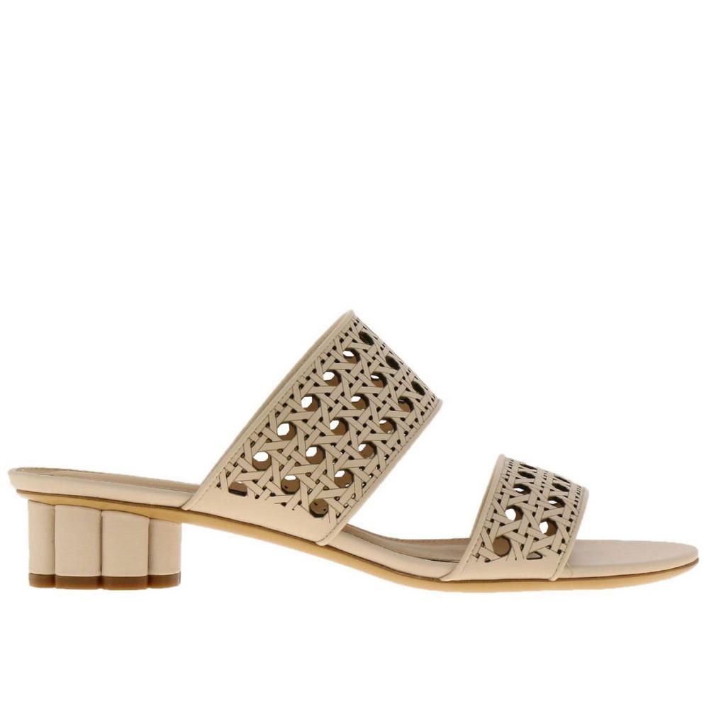 Salvatore Ferragamo Heeled Sandals Shoes Women Salvatore Ferragamo in cream / yellow