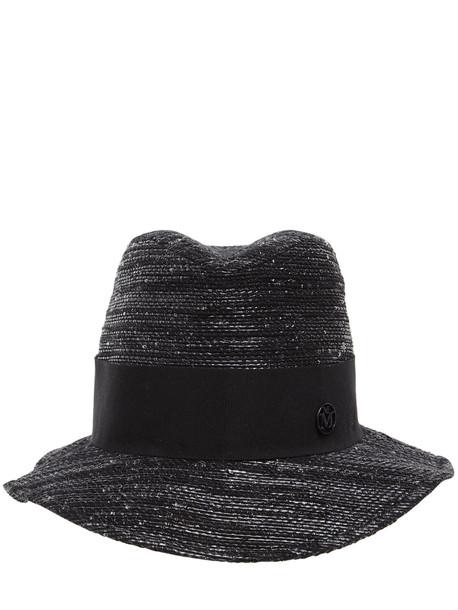 MAISON MICHEL Bobbie Cotton, Bamboo & Lurex Hat in black