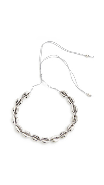 Tohum Large Puka Shell Necklace in silver