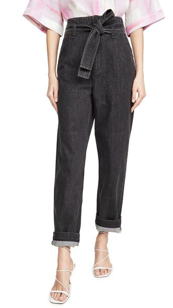 Rag & Bone/JEAN Super High Rise Darted Jeans in black