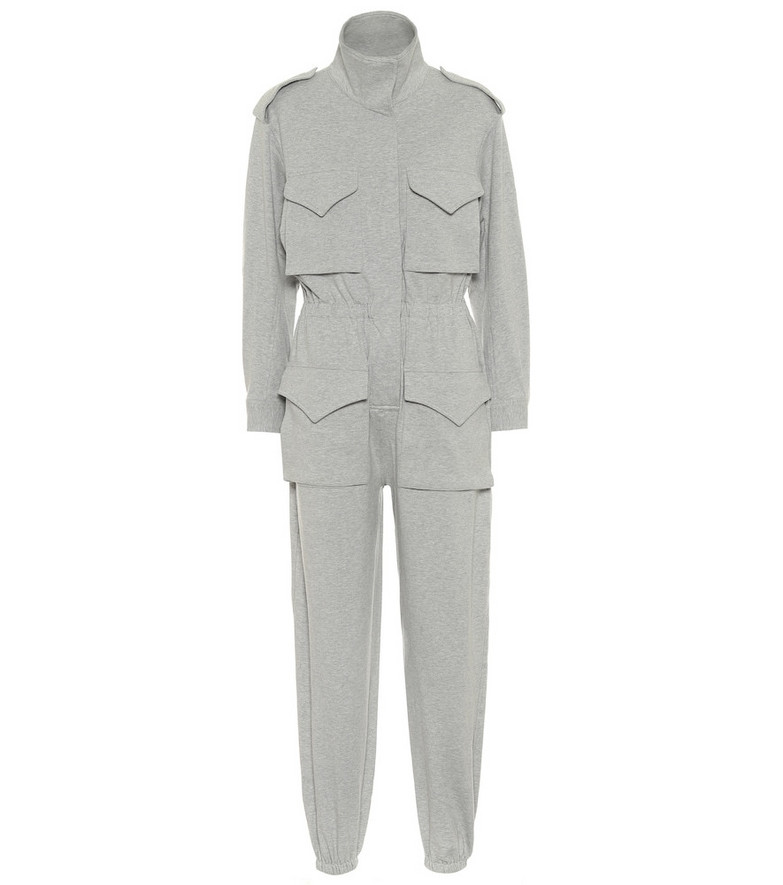 Norma Kamali Turtle stretch-cotton jumpsuit in grey
