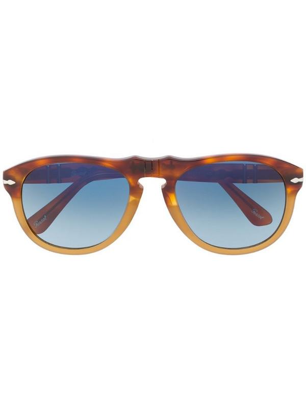 Persol tortoiseshell aviator sunglasses in brown