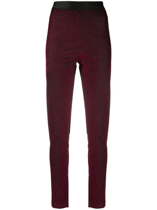 Ann Demeulemeester skinny fit trousers in red