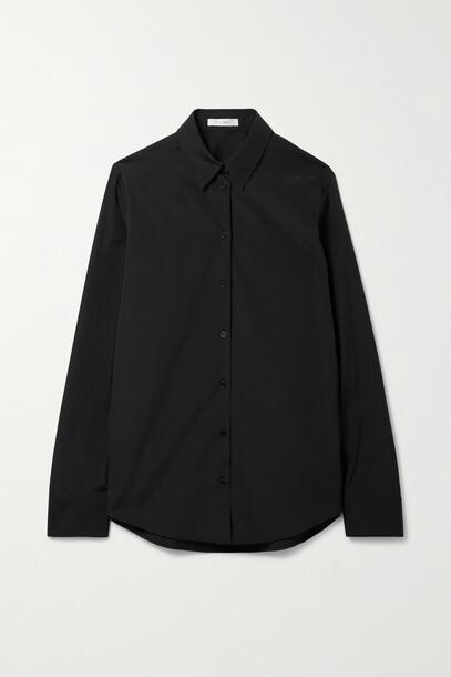 The Row - Pierre Cotton-poplin Shirt - Black