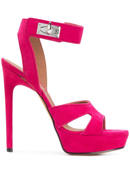 Givenchy Shark lock sandals in pink