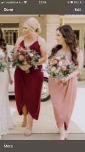 dress,autumn theme,burgundy dress,pink dress,spaghetti strap,asymmetrical,assymatrical dress,wrap dress