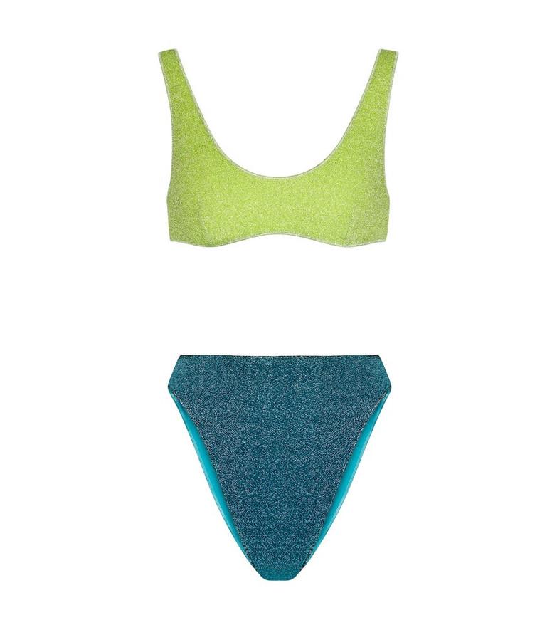 Oséree Lumière '90s bikini in blue