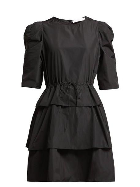 See By Chloé See By Chloé - Tiered Tie Waist Mini Dress - Womens - Black