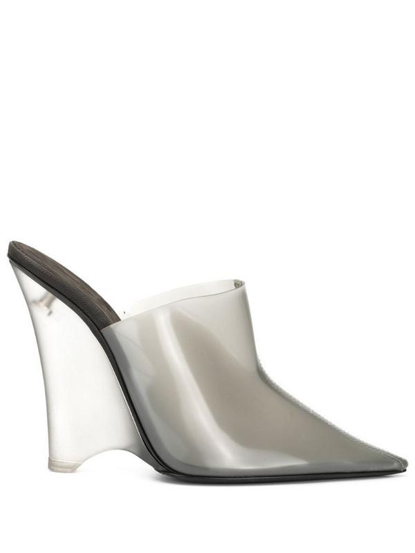 Yeezy wedge mules in grey