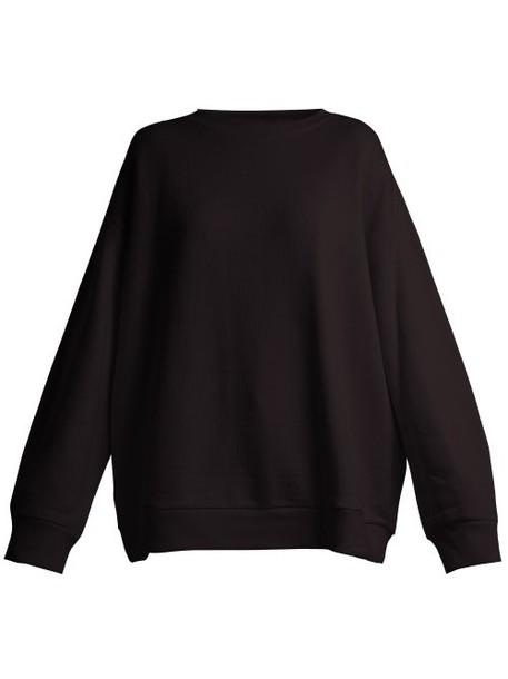 Raey - Crew Neck Japanese Jersey Sweatshirt - Womens - Black
