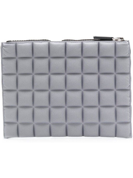 No Ka' Oi chocolate bar quilted pouch in grey